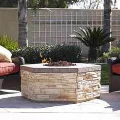 Esagono Outdoor Gas Fire Pit | WoodlandDirect.com: Outdoor Fireplaces, Gas Fire Pits