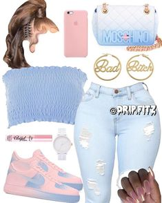 Look at more ideas about Fashion attire, Swag outfits and Girl styles. Swag Outfits For Girls, Teenage Girl Outfits, Cute Outfits For School, Cute Casual Outfits, Teen Fashion Outfits, Nike Outfits, Girly Outfits, Stylish Outfits, Clothes For Teenage Girls