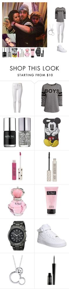 """""""Selfie w/ Liam Sophia and Niall"""" by rosemie ❤ liked on Polyvore featuring rag & bone, H&M, Nails Inc., Wet Seal, Topshop, Breda, NIKE, Disney and Lord & Berry"""