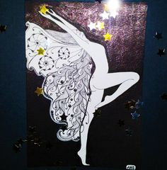 """""""Звездная фея""""  Кому ночью делать нечего, кроме как рисовать - тот я))) #7потокрисующийгород  #дистанционныйзенарт  #рисуюкаждыйдень #рисуюкайфую #зенарт #зентангл #zentangle #zenart"""