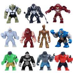 Decool Marvel Super Hero Avengers Big Minifigures Hulk Ultron DARKSEID MARK 38 IGOR Building Blocks Toys Compatible with lego