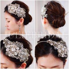 """#repost @juliebridal.jp via @PhotoAroundApp  多くの花嫁様よりご支持を頂いているジェニーパッカムブランドの中でも大変希少なCadeaux headdress着用画像のご紹介です✨ ⁂ Cadeaux=フランス語で""""贈り物""""の意味 ⁂ キラキラ輝くギフトボックスを開けた時のような高揚感や幸せを表現したモチーフです。大きさ、形の異なるクリスタルパーツや細かなビーズを複雑に組み合わせたデザインは、ウェディングパーティーの高鳴る予感と煌めきをモードな存在感で彩ります ⁂ お問い合わせはLINE@(@ juliebridal)もしくはショップのCONTACTよりお待ち致しております ⁂ jennypackham  cadeaux headdress ¥24,800- orgablanca lili earrings ¥6,800- #JULIEBRIDAL ⁂ ⁂ ⁂ ⁂ ⁂ ⁂ ⁂ #jennypackham #ジェニーパッカム #mariaelena #mariaelenaheadpieces #マリアエレナ #orgablanca…"""