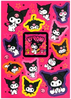 Sanrio My Melody Kuromi Pink Stickers