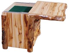 Log Nightstand W/Hidden Compartment | Aspen Log Furniture