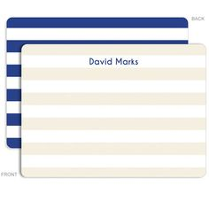 Personalized Blue Rugby Stationery