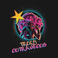 """Truly Outrageous"" by Gilles Bone Pop Culture titan Jem and the Holograms are Truly Outrageous Jem And The Holograms, Best 80s Cartoons, 80 Tv Shows, 80s Kids, Geek Out, The Good Old Days, Medium Art, Graphic Tees, Graphic Novels"