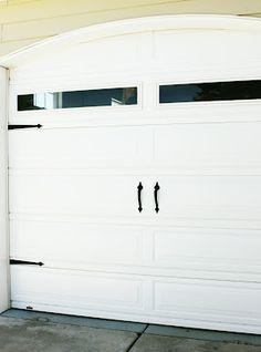 {Primp}: plain garage door to carriage doors {how to primp your garage}