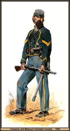 Corporal, 2nd Missouri Volunteer Cavalry, 1862 by artist Don Troiani