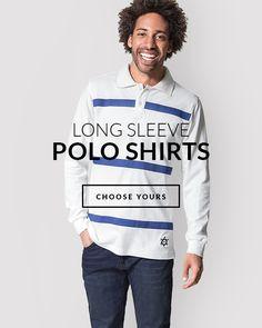 Men's Wardrobe, Long Sleeve Polo, Polo Shirts, Graphic Sweatshirt, T Shirt, Sweatshirts, Business, Fashion, Moda
