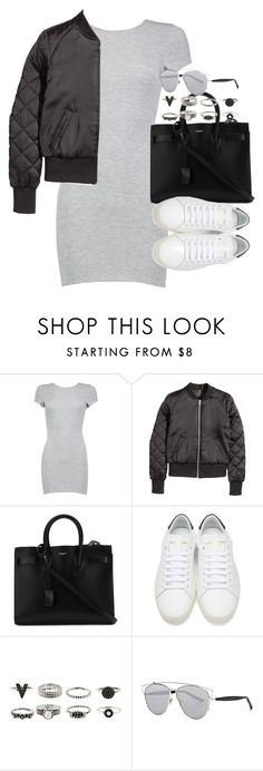 """Untitled #161"" by simonakolevaa ❤ liked on Polyvore featuring Boohoo, H&M, Yves Saint Laurent and Christian Dior"