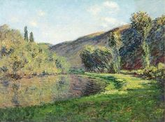 "aizobnomragym: "" Claude Monet ""The Arm of the Seine at Jeufosse, Afternoon"" """