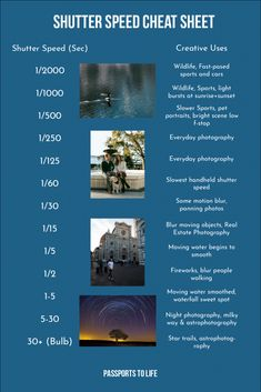 If you want to take better photos, you have to learn how to shoot in manual mode. This guide will help you understang different camera modes and settings. Shutter Speed Photography, Film Photography Tips, Photography Settings, Photography Cheat Sheets, Photography Challenge, Photography Lessons, Photography For Beginners, Outdoor Photography, Photography Tutorials