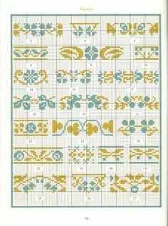 Borders in cross stitch 28 Cross Stitch Boarders, Cross Stitch Samplers, Cross Stitch Flowers, Cross Stitch Charts, Cross Stitching, Cross Stitch Embroidery, Embroidery Patterns, Hand Embroidery, Cross Stitch Patterns