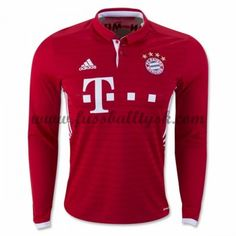 adidas Men s FC Bayern Munich Long Sleeve Home Jersey Fcb True White aaab9e4d17f76