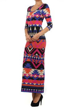 Ariel Maxi Dress -knit, aztc longsleeved maxi $55 winterlennon.com