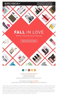 Birchbox - Get Set for Fall with These Value Kits