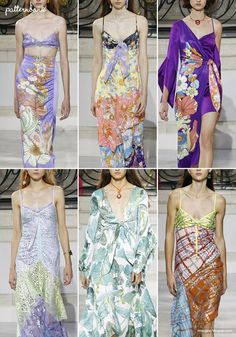 Patternbank brings you a concise overview of the most important print & pattern collections, from Spring 2018 RTW London shows. Floral Fashion, Fashion Prints, Fashion Design, Colour Combinations Fashion, 70s Fashion Pictures, Womens Fashion Australia, Fashion 2018, Fashion Top, London Fashion