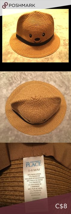 The Children's Place Boys Month Straw Fedora ⭐️The Children's Place brand ⭐️Adorable sun hat/fedora hat ⭐️ months baby hat ⭐️pre-owned, like new. The Children's Place Accessories Hats Straw Fedora, Fedora Hat, Children's Place, Baby Month By Month, Sun Hats, Baby Hats, 6 Months, Fedoras, Smiley