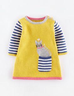 Mini Boden 'Fun' Pocket Knit Dress (Baby Girls) available at Baby Knitting Patterns, Knitting Baby Girl, Knitting For Kids, Crochet Baby, Knitted Baby, Baby Girl Dresses, Baby Outfits, Kids Outfits, Baby Girls