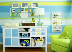 Green and blue is a great color combination for a kid's bedroom design. - Kid's Bedroom Design