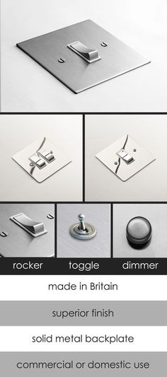 Polished & Brushed Chrome Electrical Light Switch (125A)