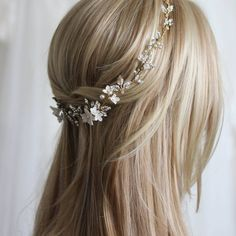 A delicate wedding crown, nature inspired and full of feminine goodness