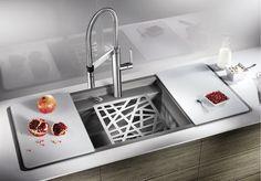 Blanco Sink | Alaros Series Tapas, Bath Caddy, My House, Kitchen Design, Home Improvement, Sink, Room, Home Decor, Kitchens