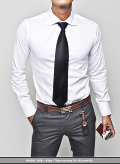 BEST SELLERS :: Designer Brand Quality Slim Cut White Dress Shirts ...