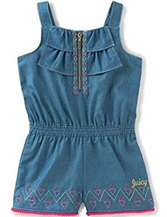 Juicy Couture Little Girls Romper Ruffles. ** You can get additional details at the image link. (This is an affiliate link) #JumpsuitsRompers
