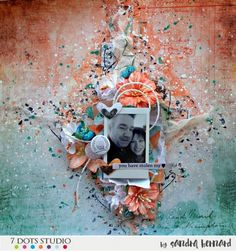 February Challenge – Love is in the Air dots studio) Scrapbook Page Layouts, Scrapbook Pages, Scrapbooking Ideas, February Challenge, 2017 Challenge, Mixed Media Art, Mix Media, Altered Canvas, Art Journal Pages