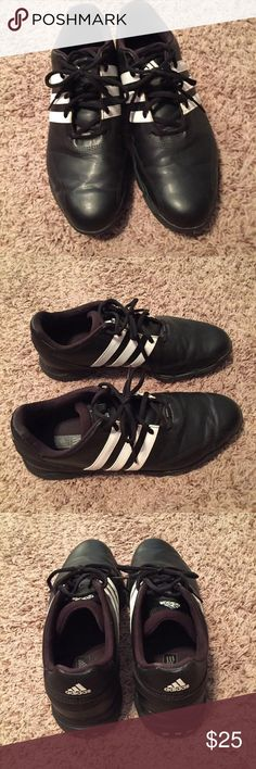 Men's Black Adidas Golf Shoes Preloved, still have lots of life left! Sold as is Shoes Athletic Shoes