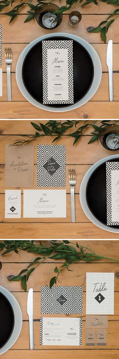 mariage indus | wedding invitation | stationery | papeterie mariage | mariage industriel | graphic pattern | black and white | modern