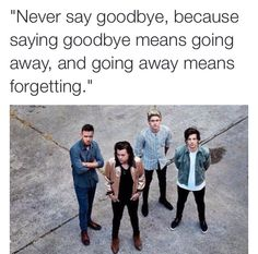 This isn't a 'goodbye', this is a 'see you later' #ThisIsntTheEndOfOneDirection #TillTheEnd
