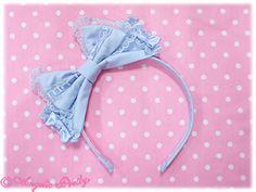 Ladder Lace Mini Ribbon Head Bow