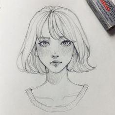 New Drawing Sketches Girl Faces Character Design Ideas Pencil Art Drawings, Art Drawings Sketches, Cool Drawings, Drawing Faces, Simple Face Drawing, Art Faces, Man Face Drawing, Face Drawing Reference, Skull Drawings
