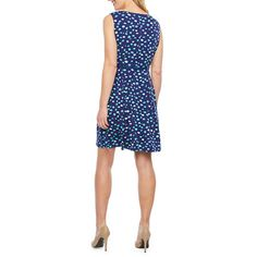 Liz Claiborne Sleeveless Dots Fit & Flare Dress Fit Flare Dress, Fit And Flare, Liz Claiborne, Spandex Fabric, Sleeve Styles, Dots, Dresses For Work, Closure, Content