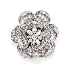 Diamond and platinum brooch, Harry Winston
