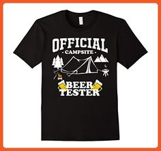 Mens Official Campsite Beer Tester Funny Camping T Shirt Large Black - Funny shirts (*Partner-Link)