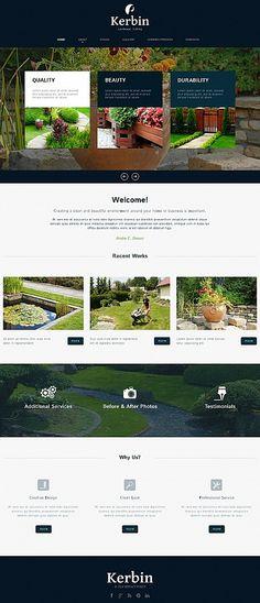 Template 49618 - Landscape Design Moto CMS HTML Template