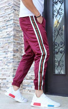 Pantaloni Trening `STRIPE` - BORDO (Cod: JOG03) - haine barbati Cod, Sweatpants, Sports, Collection, Fashion, Hs Sports, Moda, Fashion Styles, Cod Fish