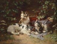 Kittens By Carl Reichert ,1889