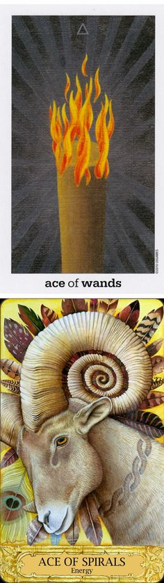 Ace of Wands: burning fore of intention and lack of energy