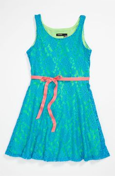 Zunie Lace Skater Dress (Big Girls) available at #Nordstrom