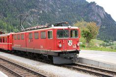 """Rhätische Bahn (RhB), Ge 6/6 II 704 """"Davos"""", Filisur (GR)"""