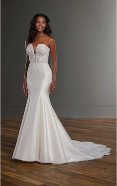 Martina Liana 1191 available at The Story Bridal, Las Vegas NV Fit-and-Flare Wedding Dress with Double Scallop Train Vows Bridal, Bridal Gowns, Wedding Gowns, Lace Wedding, Wedding Angels, Dream Wedding, Form Fitting Wedding Dress, Fit And Flare Wedding Dress, Martina Liana