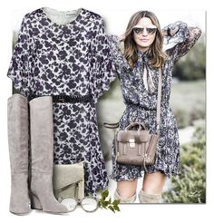 """""""Floral print"""" by breathing-style ❤ liked on Polyvore featuring Essentiel, Violet Ray, Moschino Cheap & Chic, ZeroUV and Sam Edelman"""