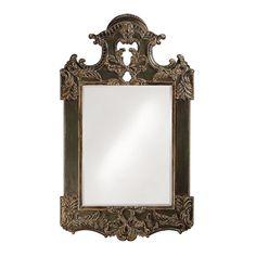 Howard Elliott Park Lane Antique Brown Mirror | Wall Decor and More