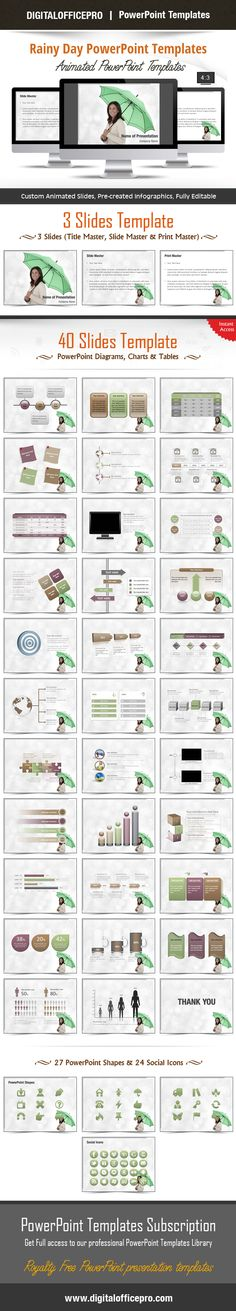 Impress and Engage your audience with Rainy Day PowerPoint Template and Rainy Day PowerPoint Backgrounds from DigitalOfficePro. Each template comes with a set of PowerPoint Diagrams, Charts & Shapes and are available for instant download.