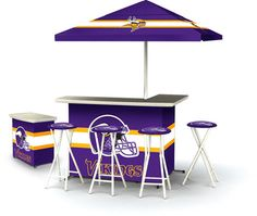 Want,...no, no, no,...NEED this!!!...Minnesota Vikings Deluxe Portable Tailgate Bar Set
