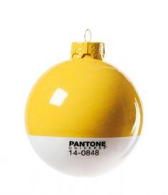 Pantone, decorazioni natalizie di design